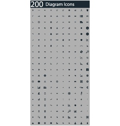 Set of 200 diagram icons vector