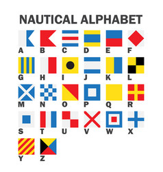 set of maritime signal flags vector image