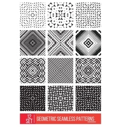 Set of Universal different geometric seamless vector image