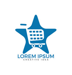 shopping logo design vector image