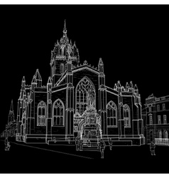 sketch st giles cathedral vector image