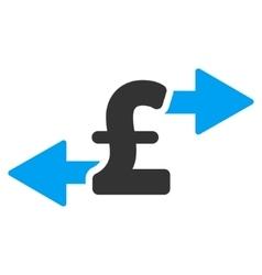 Spend Pound Money Flat Icon Symbol vector