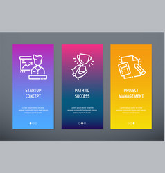 startup concept path to success project vector image