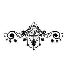 Unusual ornament similar to a chandelier vector