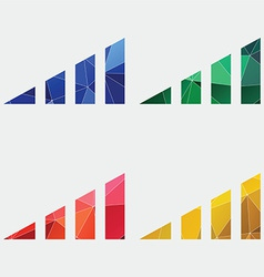 Volume level icon abstract triangle vector