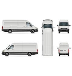 white van template vector image