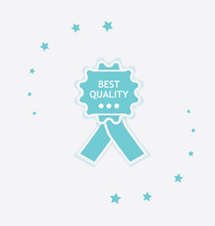 best quality icon vector image