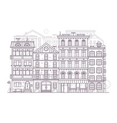 europe city street background in line art vector image vector image