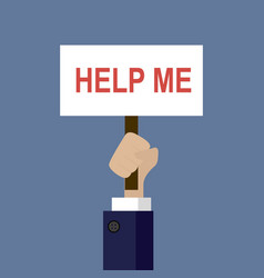 help me poster vector image vector image