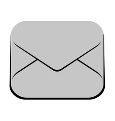 isolated mail icon vector image vector image