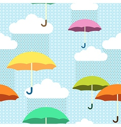 pattern rain color vector image