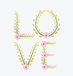 Royal floral print love painted with watercolor vector