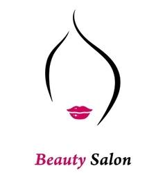 beauty salon icon vector image vector image