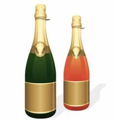 champagne bottles vector image vector image