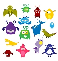 Color alien monster vector image vector image