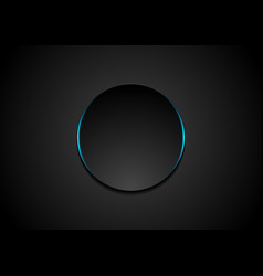 black circle abstract tech background vector image