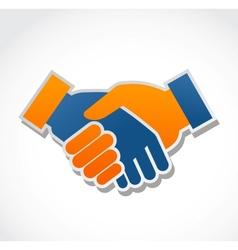 handshake abstract vector image