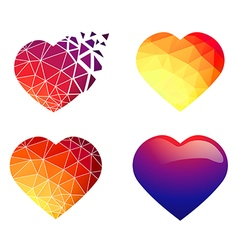 Heart Design Collection vector image vector image