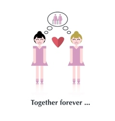 Lesbians family isolated vector image vector image