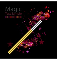 beautiful magic background with wand vector image vector image