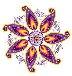 Mandala icon vector image vector image