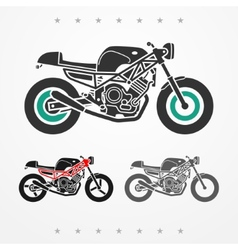 Modern road motorcycle vector image vector image