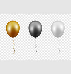 3d realistic metallic golden black white vector image