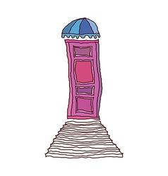 A door with stair vector