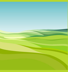 Abstract background cartoon green fields under vector