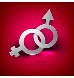 Abstract background with male female symbol vector