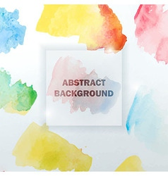 abstract watercolor colorful background vector image