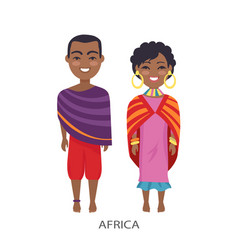 Africa people and customs vector