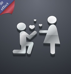 An offer of marriage icon symbol 3D style Trendy vector