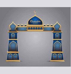 archramadan background with golden event entrance vector image