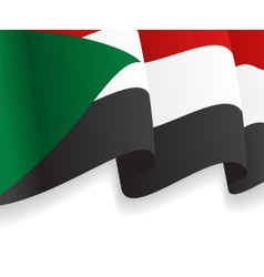 Background with waving Sudan Flag vector