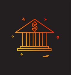 bank money dollar icon design vector image