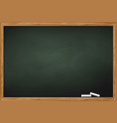 Blackboard with two pieces of chalk vector