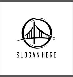 bridge logo template icon vector image