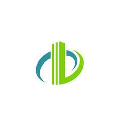 building business cityscape logo vector image