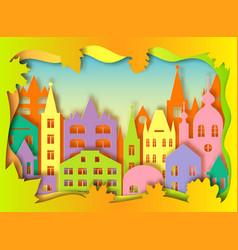 building of big city vector image