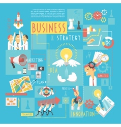 Business concept infographic elements poster vector
