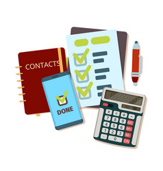 calculator business tools modern stationery vector image
