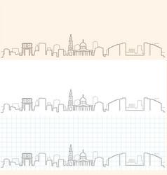 chisinau hand drawn skyline vector image
