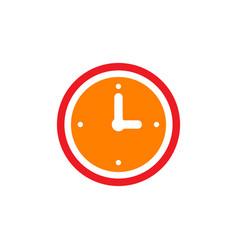 clock icon flat design element watch vector image