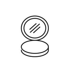 cosmetic hand mirror thin line icon design vector image