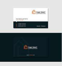 dark business card for realtors vector image