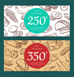 discount or voucher template with mexican vector image