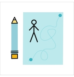 Drawing in Pencil on Sheet Paper vector image