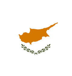 Flag of cyprus vector