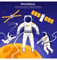 Flat Astronauts vector image